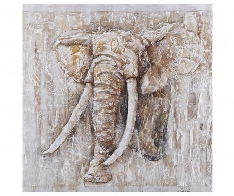 Elephant Art Festmény 80x80 cm