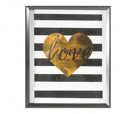 Stripes Love Kép 40x50 cm