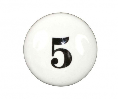 Number Five Fiókgomb