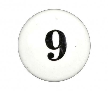 Number Nine Fiókgomb