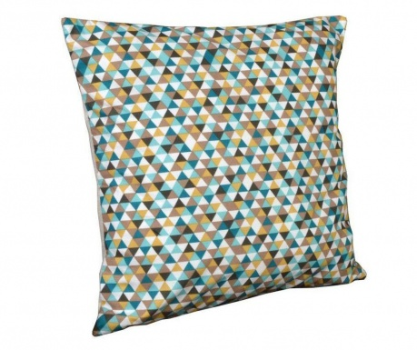 Perna decorativa Geometric Chic Yellow and Brown 40x40 cm