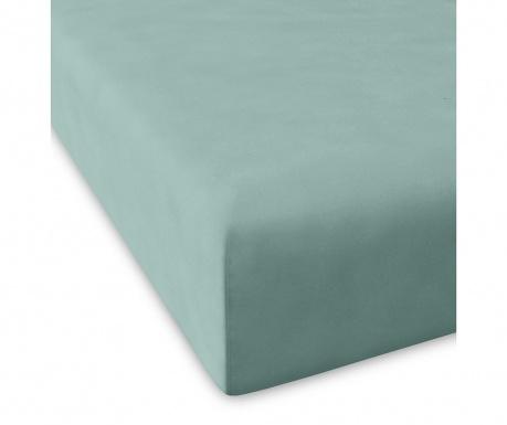 Cearsaf de pat cu elastic Casual Green Water