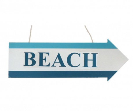 Zidni ukras Beach Sign