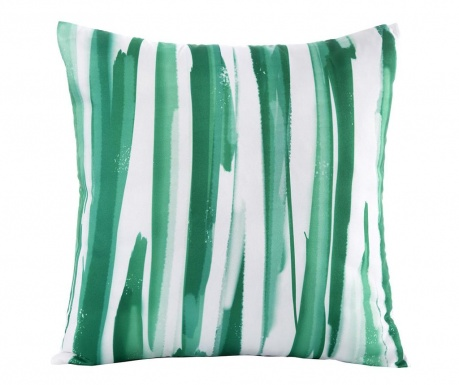 Jastučnica Strips Green White 45x45 cm