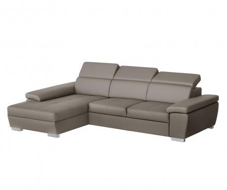 Ляв ъглов диван Twinset Grey Brown