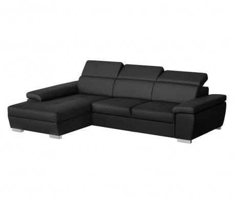 Ляв ъглов диван Twinset Black