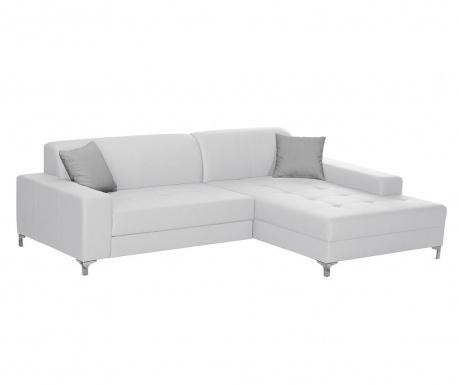 Разтегателен десен ъглов диван Symbole White