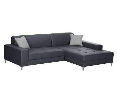 Разтегателен десен ъглов диван Symbole Anthracite