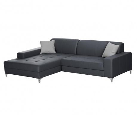 Разтегателен ляв ъглов диван Symbole Anthracite