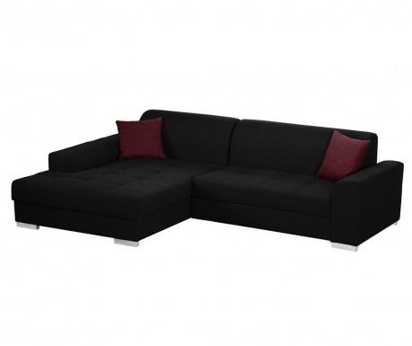 Ляв ъглов диван Icone Black