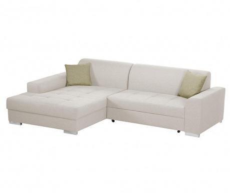 Разтегателен ляв ъглов диван Icone Cream