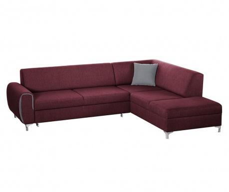 Разтегателен десен ъглов диван Contour Red