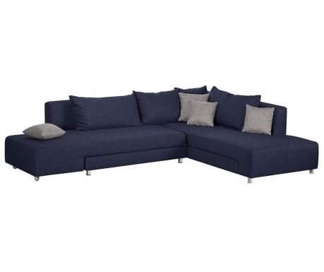 Модулен десен ъглов диван Pashima Blue
