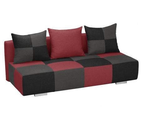 Dandy Red Black and Anthracite Háromszemélyes Kihúzható Kanapé
