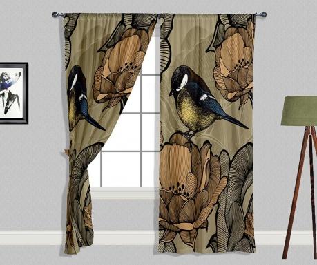 Set 2 draperii Bird on Flower 140x240 cm