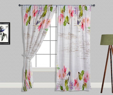 Set 2 draperii Colourful Flowers 140x240 cm
