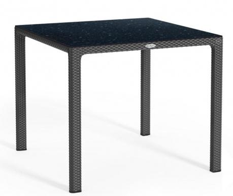 Vrtna miza Raffia Square Black