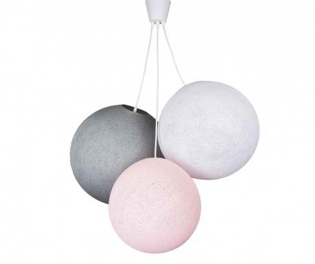 Lustra Triple Pink White Stone