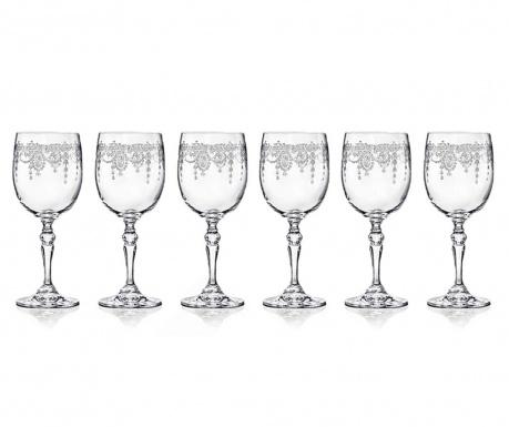 Set 6 čaša za crveno vino Catherine 350 ml