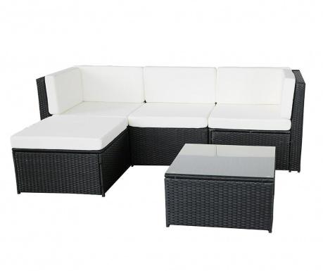 Set coltar modular si masuta pentru exterior Relax Black White