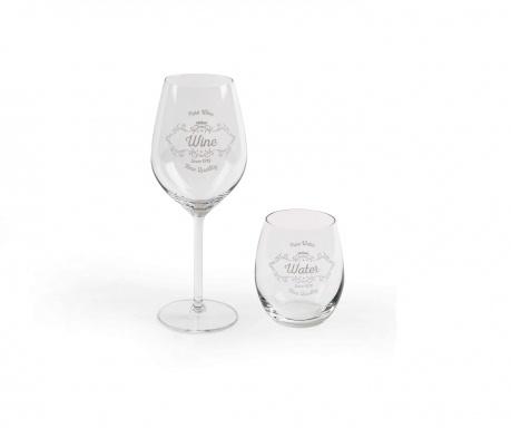 Zestaw 6 kieliszków i 6 szklanek Vino