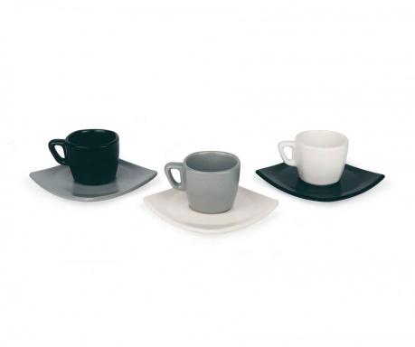 Zestaw 6 filiżanek i 6 talerzyków do kawy Roberta