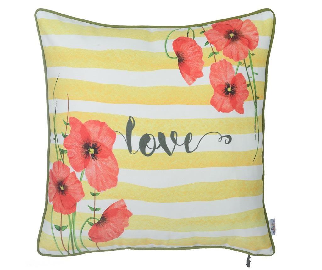 Fata de perna Poppies & Love 43x43 cm
