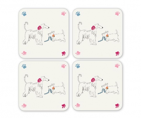 Set 4 coastere Dapper Dogs