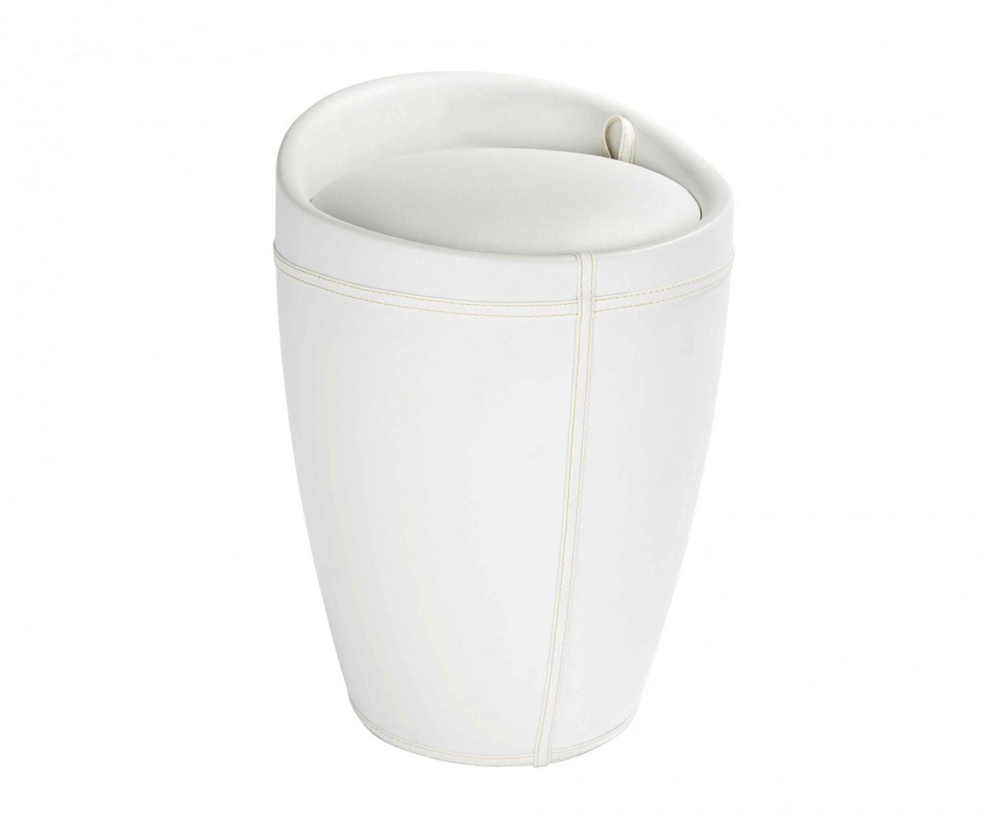 Kopalniški taburet Candy White 20 L