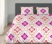 Posteljnina Single Ranforce Tiled Pink