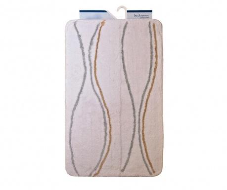 Zestaw 2 dywaników łazienkowych Avantgarde Wavy Lines White