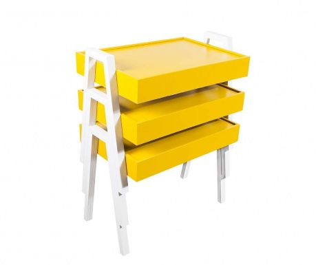 Nesting Yellow and White 3 db Moduláris asztalka