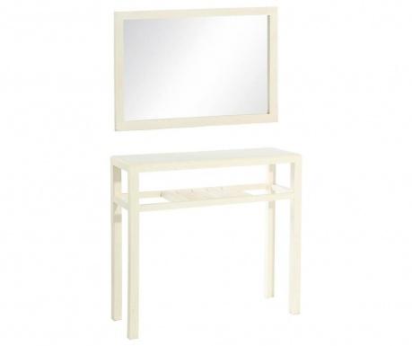 Комплект огледало и конзола Lobby White