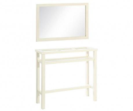 Комплект огледало и конзола Entra White