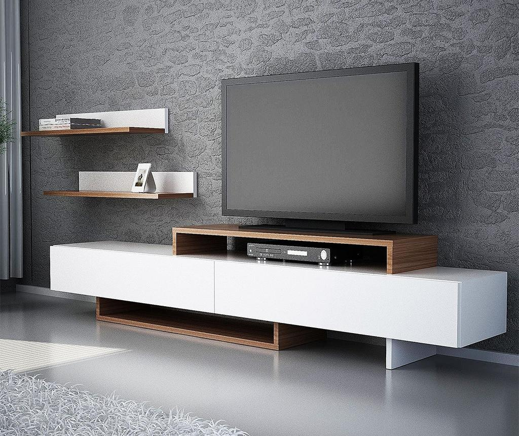 Set TV komode in 2 polic Nirvana White