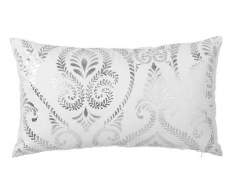 Dekorační polštář Baroque White Silver 30x50 cm