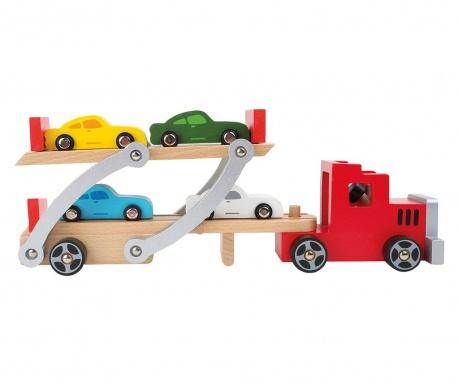 Комплект 5 играчки колички Red