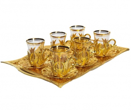 Чаен сервиз 12 части Bisan Gold