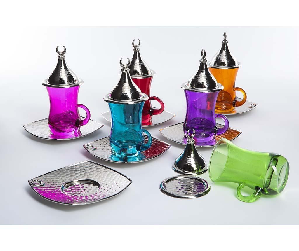 Set pentru ceai 18 piese Evrim Colors