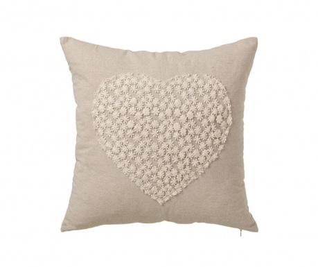Perna decorativa Heart Beige 45x45 cm