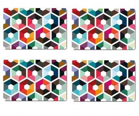 Set 4 individualuri Hexagon 28.5x44 cm