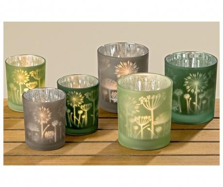 Zestaw 6 świeczników Flower