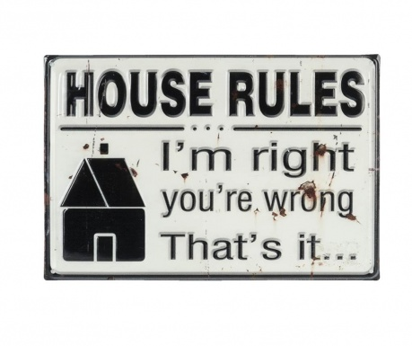 Decoratiune de perete House Rules