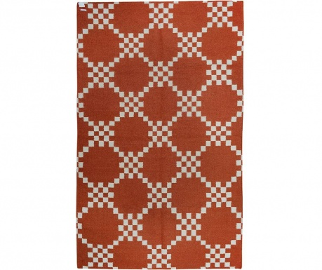 Covor Kilim Abstract Chess Scarlet 152x244 cm