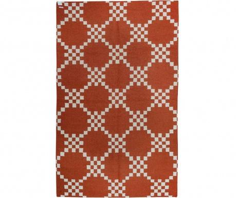 Kilim Abstract Chess Scarlet Szőnyeg 152x244 cm