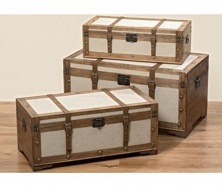 Zestaw 3 kufrów Lodge