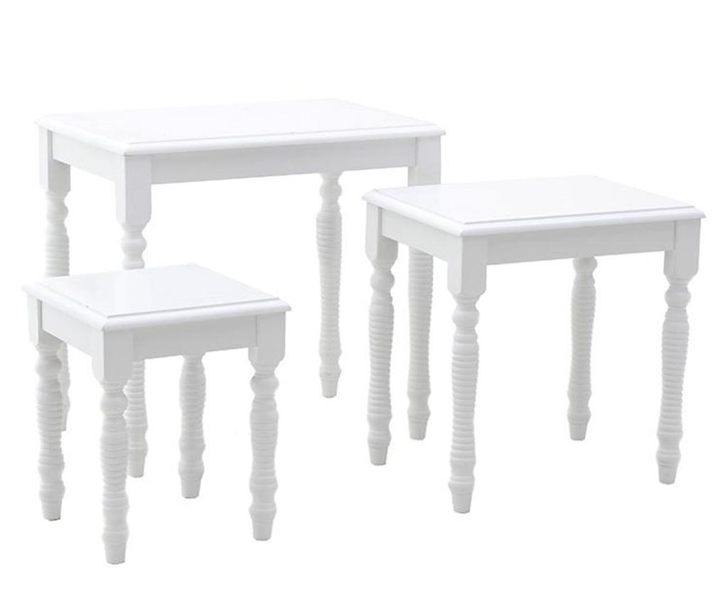 Prisma White 3 db Asztalka