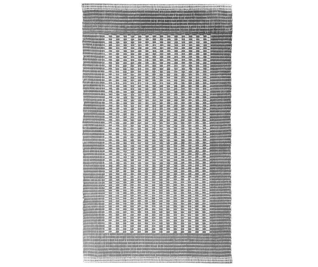 Covoras de baie Ribbed Bounds Grey 60x100 cm