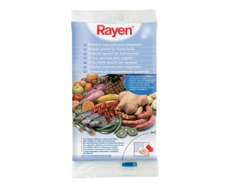 Set 50 vrečk za zmrznjeno hrano Food Bliss 30x45 cm