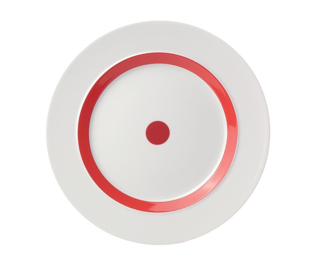 Plitki tanjur The Dot Red